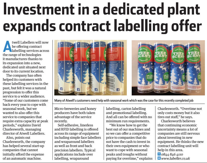 New Contract Labelling Service
